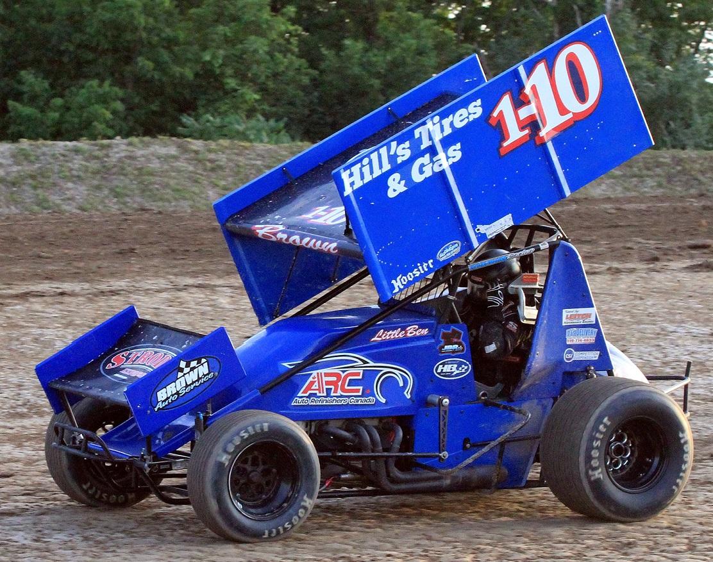 Jake Brown at Ohsweken Speedway July 22 2012 G Eves.jpg red 60